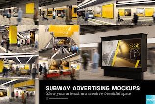 Thumbnail for Subway Advertising Mockups