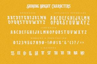 Miniatura para Shining Brillante Tipo de letra