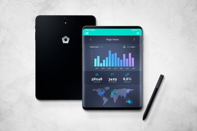 S9 Tablet Mockup - product preview 10