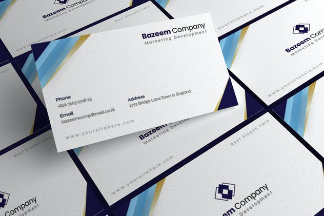 Golden Blues - Business Card - product preview 3