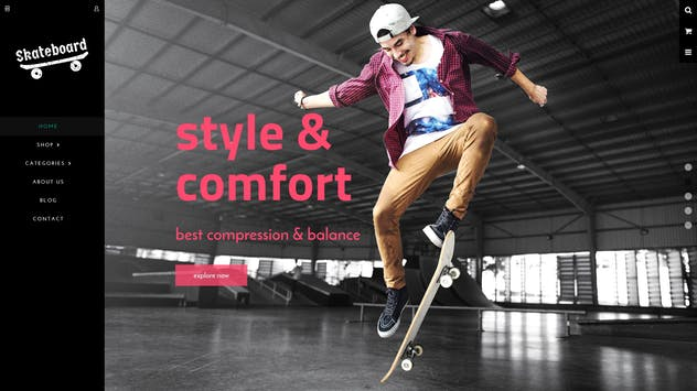 Skate board - Fullscreen Sports Shopify Theme - product preview 1