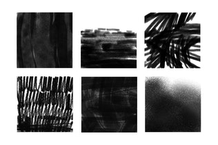Thumbnail for 30 Charcoal Texture Photoshop Stamp Brushes
