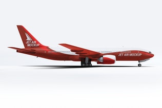 Thumbnail for Jet Airplane Mock-Up