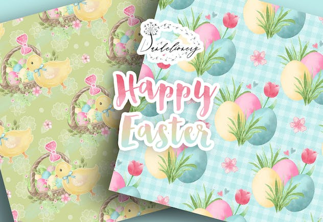 Happy Easter digital paper pack - product preview 5