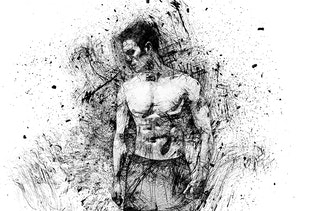 Thumbnail for Ink Scribbles Animation Photoshop Action