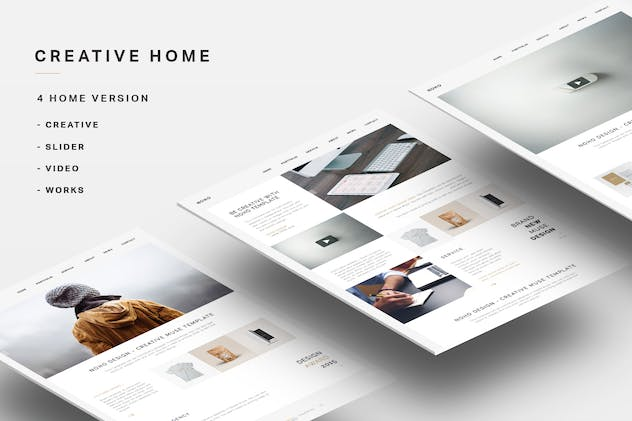 NOHO - Creative Agency Portfolio Muse Template - product preview 2