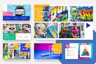 Thumbnail for Pastel - Pop Art & Graffiti Keynote Template
