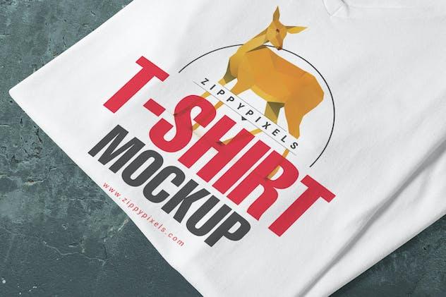5 Trendy V-Neck T-Shirt Mockups - product preview 4
