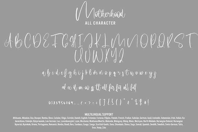 Motherhood - Calligraphy Font - product preview 6