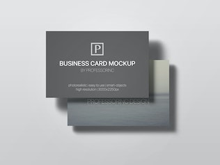 Thumbnail for 85x55 Business Card Mock-Up