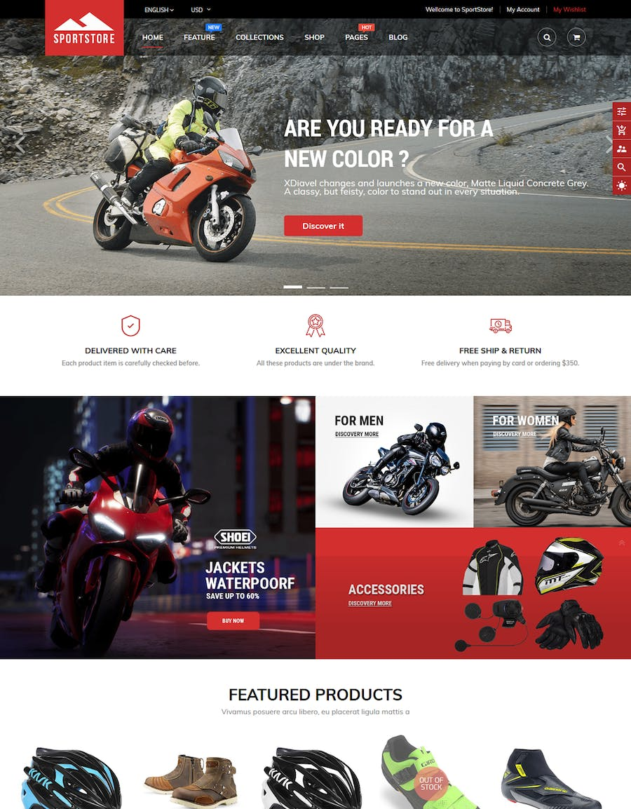 SportStore - Multipurpose Sections Shopify Theme - product preview 1
