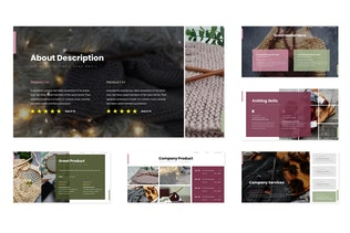 Thumbnail for Knitting - Google Slides Template