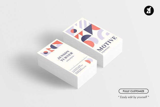 Motive - Business card template - product preview 0
