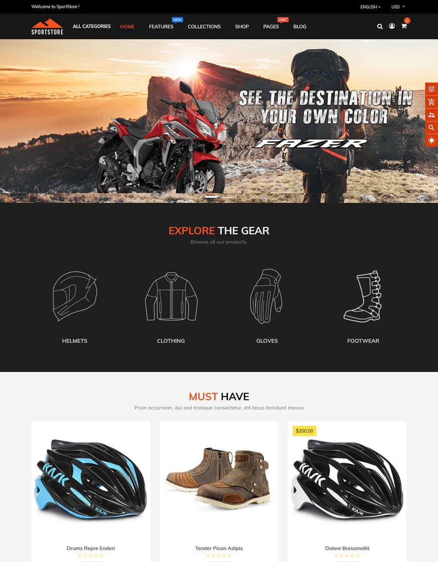 SportStore - Multipurpose Sections Shopify Theme - product preview 2
