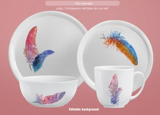 Thumbnail for Dinnerware Collection Mockup