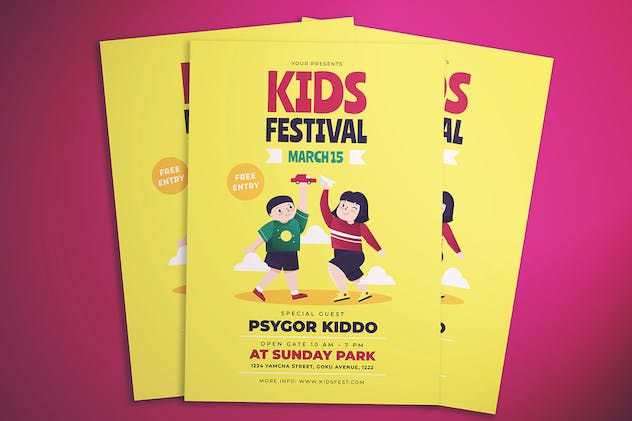 Kids Fest Flyer - product preview 2