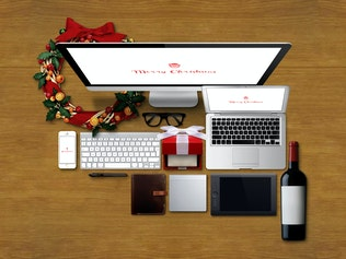 Thumbnail for Christmas Responsive Devices Mockup Pack