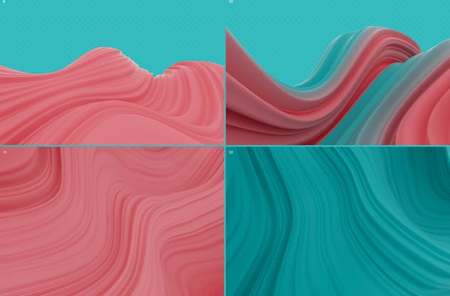Abstract 3D Wavy Striped Backgrounds - product preview 8
