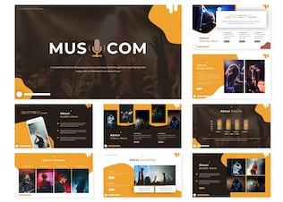 Musicom | Шаблон слайдов Google