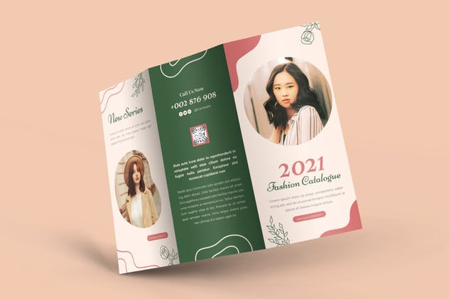 Fashion Catalogue 2021 Trifold Brochure - product preview 2