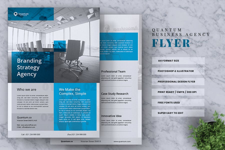 QUANTUM Corporate Business Flyer - product preview 1