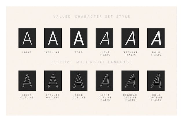 Valued - A Deluxu Sans Serif Family - product preview 2