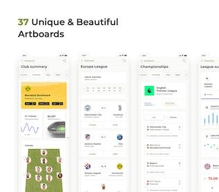 Soccer mobile app – Light UI