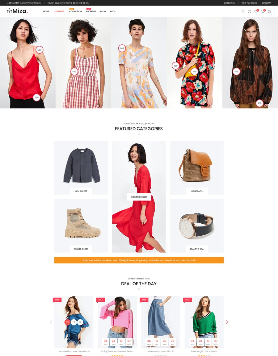 Miza - Fashion Bootstrap 4 Shopify Theme - product preview 2