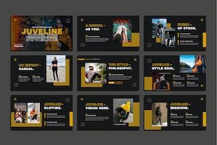 Миниатюра для Шаблон Powerpoint для уличной одежды Juveline