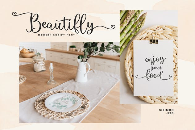 Beautifly Bold and Bouncy Handwritten Script Font - product preview 2