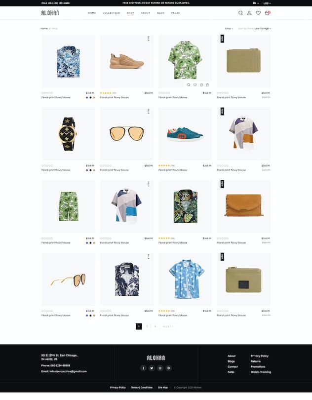 Alohan | Minimalist Fashion PSD Template - product preview 9