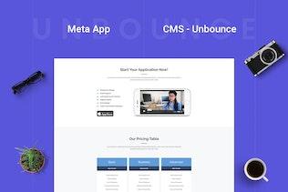 Miniature pour Meta Appli - Page de destination Unbounce