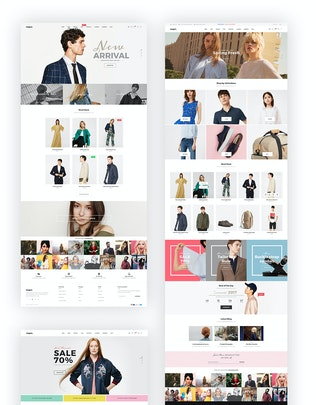 Thumbnail for Negan - Clean, Minimal eCommerce PSD Template