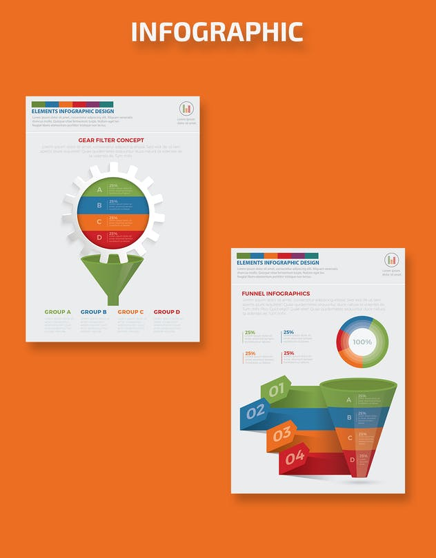 Filter Funnel Infographics Design - product preview 9