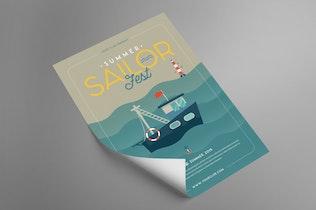 Thumbnail for Summer Sailor Fest Flyer