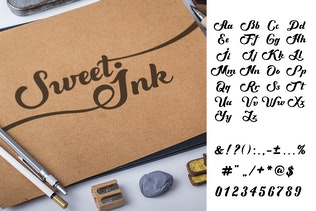 Thumbnail for Sweet Ink Font Calligraphy