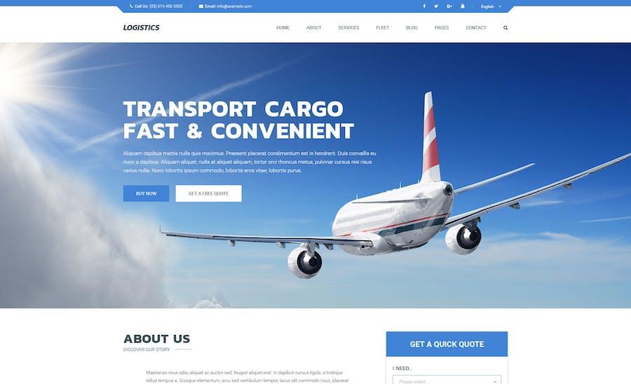 Logistics - Transportation Joomla Template - product preview 1