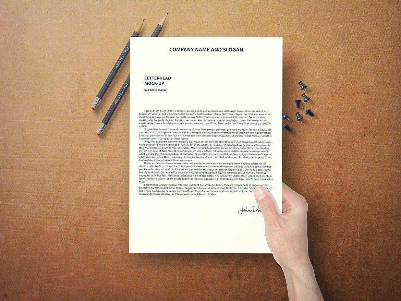 a4 letterhead mock up by professorinc on envato elements