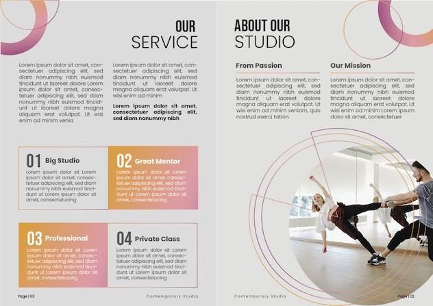 Dance Studio Brochure - product preview 2