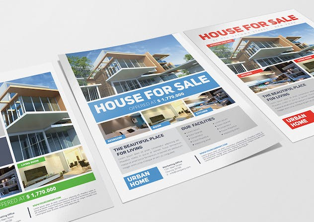 3 Urban Real Estate Flyers - product preview 3