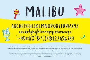 MALIBU - Police d'écriture manuscrite insouciante