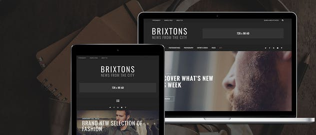 Brixton - A Responsive WordPress Blog Theme - product preview 1