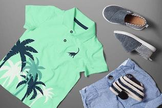 Thumbnail for Polo T-shirt Mock-up Boys Version