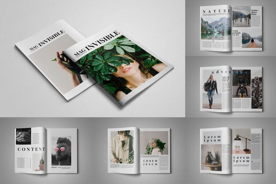 Invisible Magazine Template - product preview 3