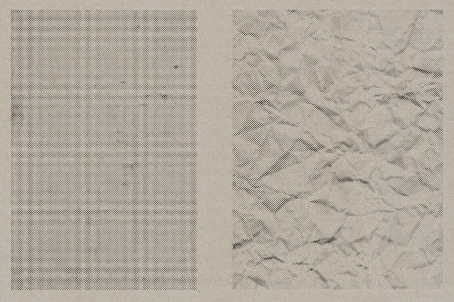 Halftone Vector Paper Textures - product preview 5