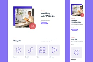 Thumbnail for Personal Responsive Landing Page