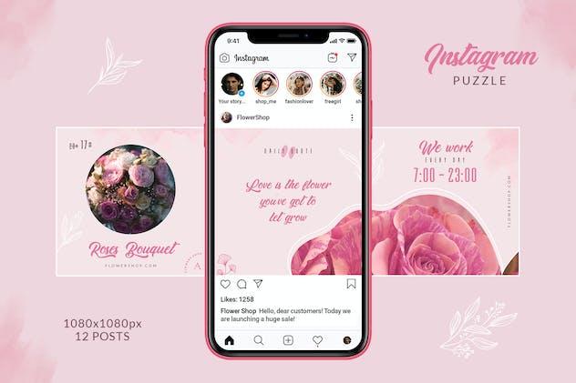 Flower Shop Instagram Puzzle - product preview 3