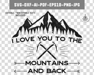 Mountain Adventure Badge, Vintage Camp Logo Patch