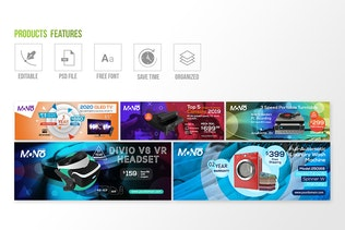 Thumbnail for 10 Facebook Cover - Products Vol 03