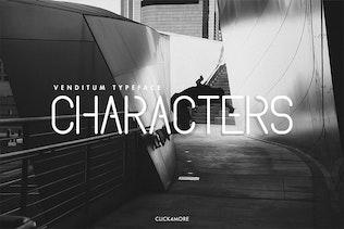 Thumbnail for Venditum Typeface